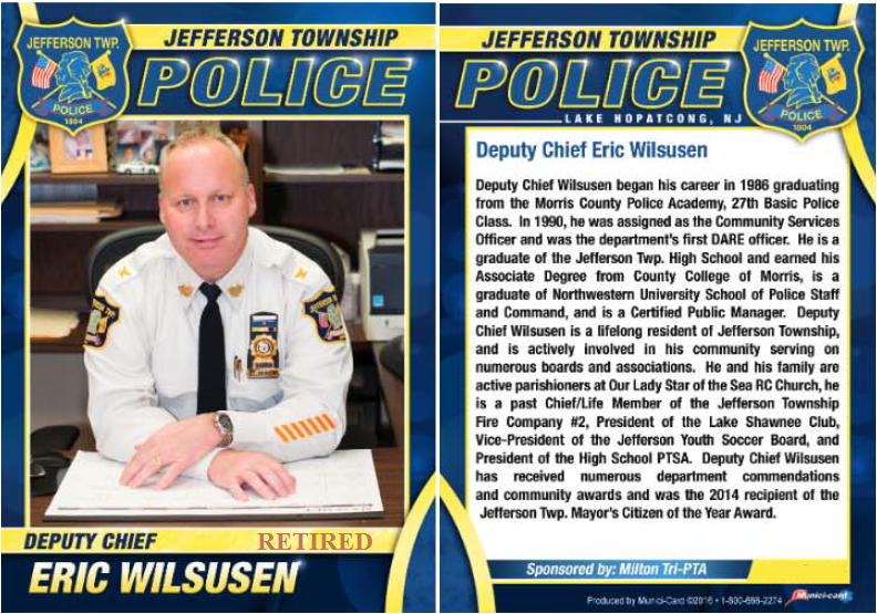 Deputy Chief Eric Wilsusen Biography