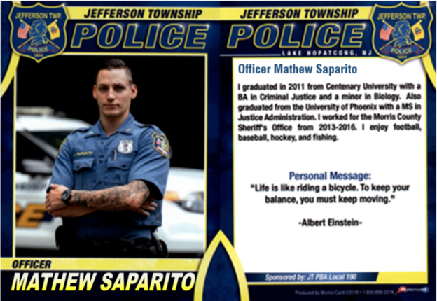 73Police Officer Mathew Saparito