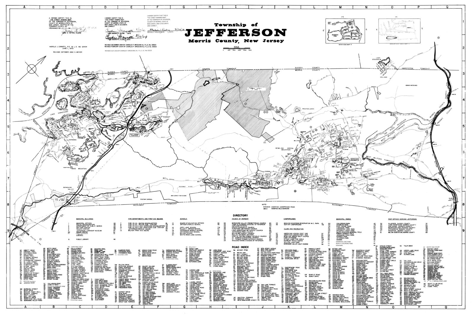Township Map with road index (JPG) Opens in new window